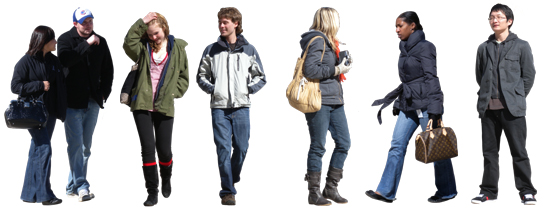 2d cut out people textures cool weather casual people v1