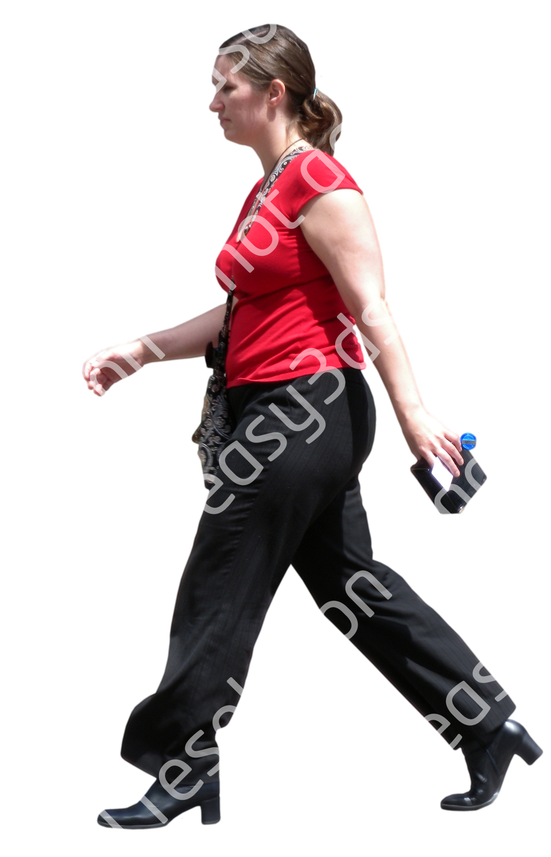 (Single) Business People V. 1 #042 woman, walking