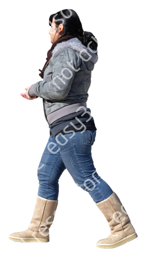 (Single) Cool Weather Casual V. 1 #018 young woman, walking