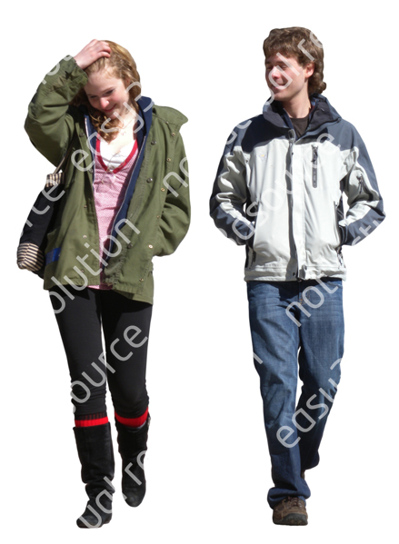 (Single) Cool Weather Casual V. 1 #040 couple, walking