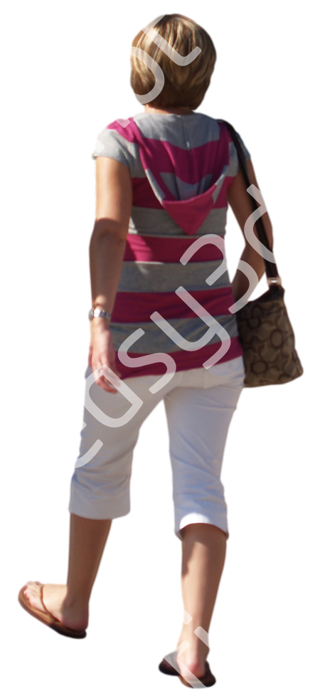 (Single) Casual People V. 1 #048 young woman, walking