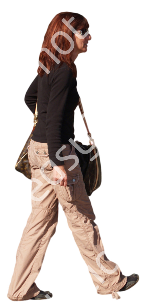 (Single) Casual People V. 1 #052 woman, walking
