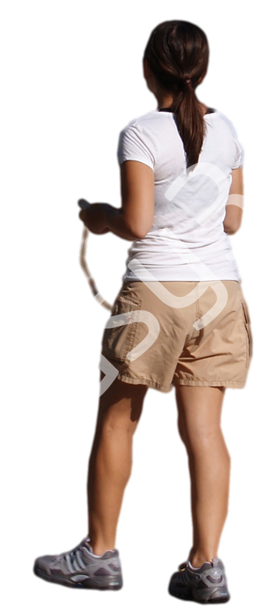 (Single) Casual People V. 2 #036 young woman, walking