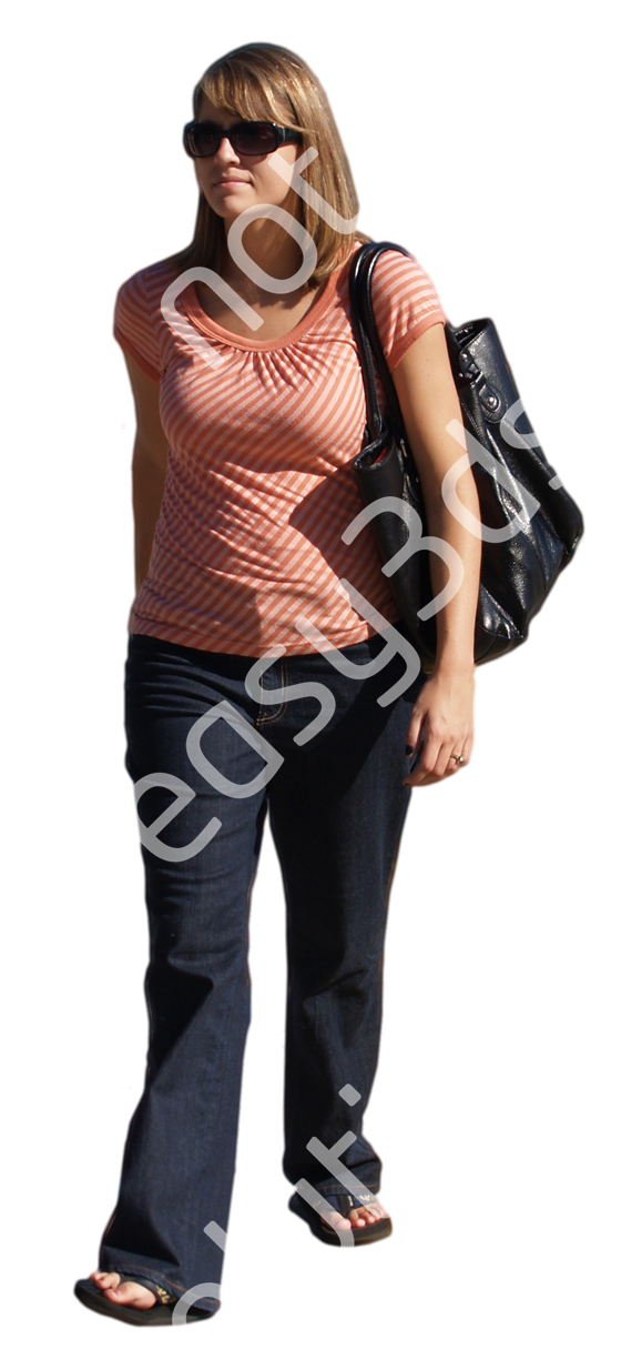 (Single) Casual People V. 2 #054 girl, walking